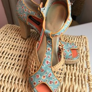 Women's KENZIE Platform VINTAGE Style Heel/Sandals